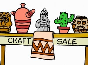 Tabletop sale cartoon