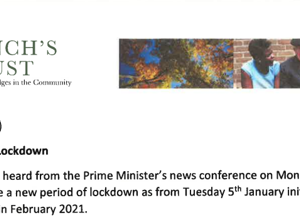 Wednesday 6th January 2021 – Third National Lockdown