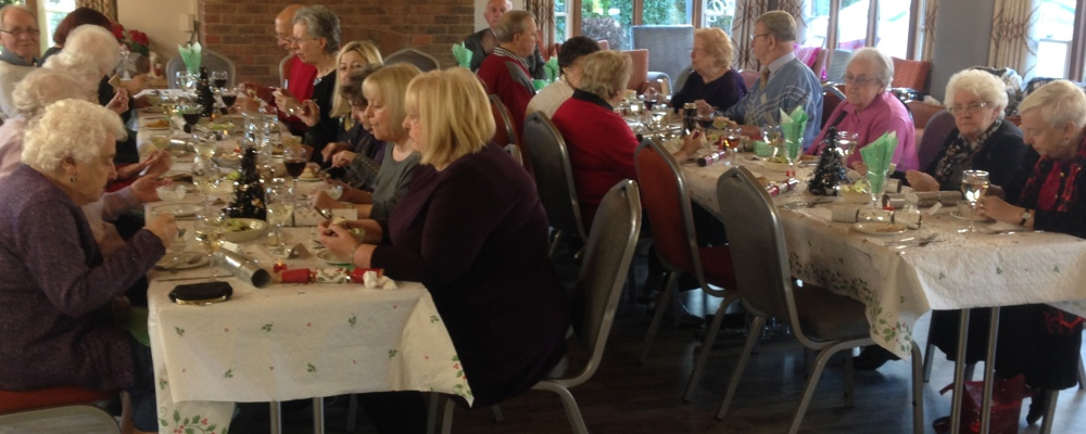 Residents enjoying their lunch